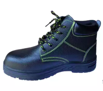 Safety Shoes Mid-Cut Genuine Leather with Steel Cap and Steel Sole Protection Safety Boots